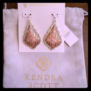 NWT Kendra Scott Gold Addie In Rose Gold Filigree